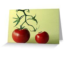 Tomato Man Greeting Card