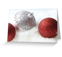 Red and White Christmas Greeting Card