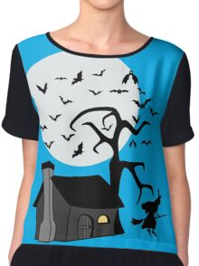 Spooky Witch's House Chiffon Top