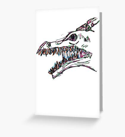 creepy dino baby Greeting Card