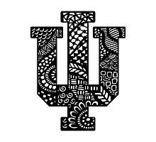 Indiana University Zentangle Photographic Print