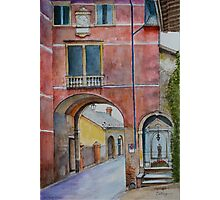Asolo Gate and Shrine, Veneto, Italy Photographic Print
