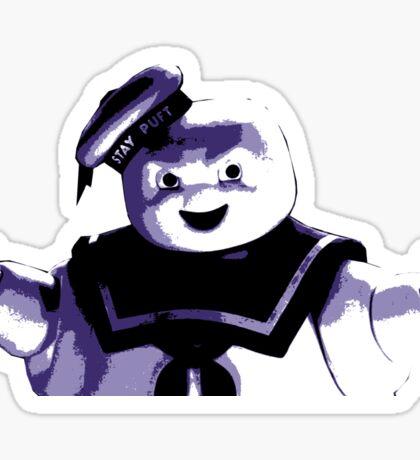STAY PUFT MARSHMALLOW MAN - Ghostbusters - streetart stencil - Popart Sticker
