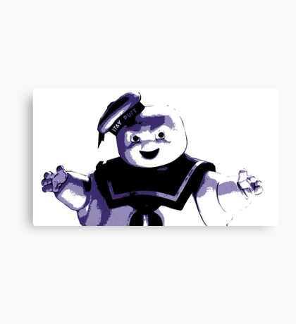 STAY PUFT MARSHMALLOW MAN - Ghostbusters - streetart stencil - Popart Canvas Print