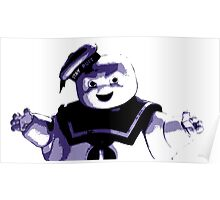 STAY PUFT MARSHMALLOW MAN - Ghostbusters - streetart stencil - Popart Poster