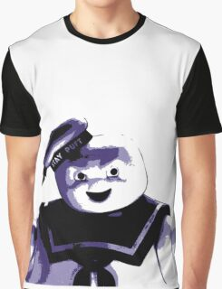 STAY PUFT MARSHMALLOW MAN - Ghostbusters - streetart stencil - Popart Graphic T-Shirt