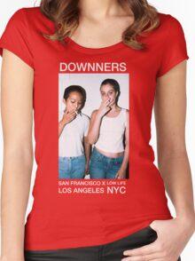 Maddie & Ellie (Downners Black Tee) Women's Fitted Scoop T-Shirt