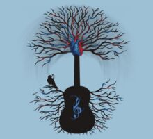 Rhythms of the Heart ~ Surreal Guitar Kids Tee
