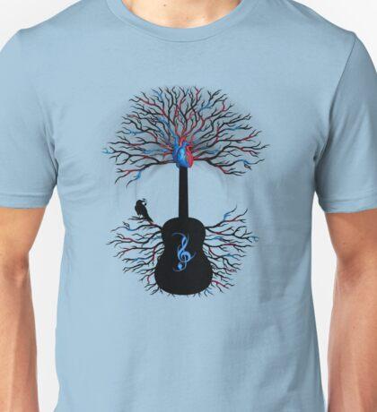 Rhythms of the Heart ~ Surreal Guitar Unisex T-Shirt