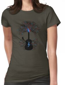Rhythms of the Heart ~ Surreal Guitar Womens Fitted T-Shirt
