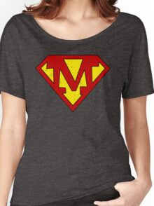 Superman M Letter Women's Relaxed Fit T-Shirt