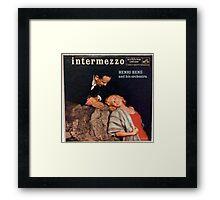 Intermezzo, Cheesecake cover lp Framed Print