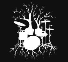 """""""Live the Beat to the Tempo of Creation"""" ~ drum tree art , version1 Kids Tee"""