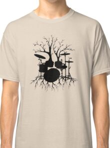 """""""Live the Beat to the Tempo of Creation"""" ~ drum tree art, version2 Classic T-Shirt"""