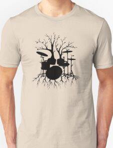 """""""Live the Beat to the Tempo of Creation"""" ~ drum tree art, version2 T-Shirt"""