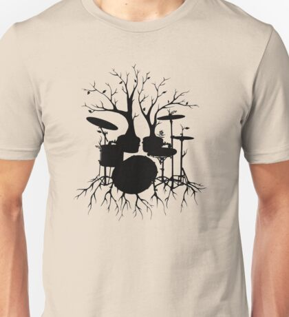 """Live the Beat to the Tempo of Creation"" ~ drum tree art, version2 Unisex T-Shirt"