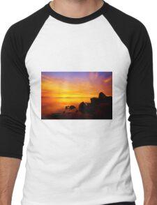 Sunset and Fire Men's Baseball ¾ T-Shirt