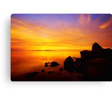 Sunset and Fire Canvas Print