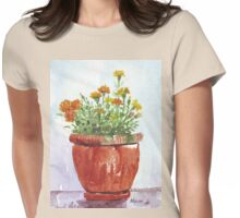 French Marigolds Womens Fitted T-Shirt
