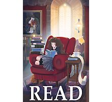 Hermione - READ poster Photographic Print