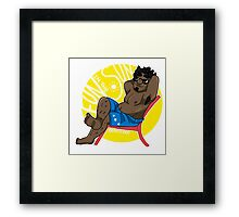 Relax - Small Dude Collection Framed Print