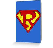 Superman R Letter Greeting Card