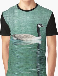 Canada Goose On Shimmering, Shimmering Water Graphic T-Shirt