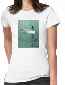 Canada Goose On Shimmering, Shimmering Water Womens Fitted T-Shirt