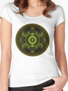 Metatron's Magick Wheel ~ Sacred Geometry Women's Fitted Scoop T-Shirt