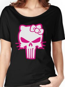 Punisher Kitty Pink Women's Relaxed Fit T-Shirt