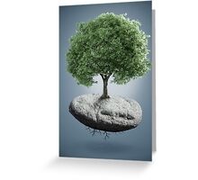 Tree on suspended rock Greeting Card