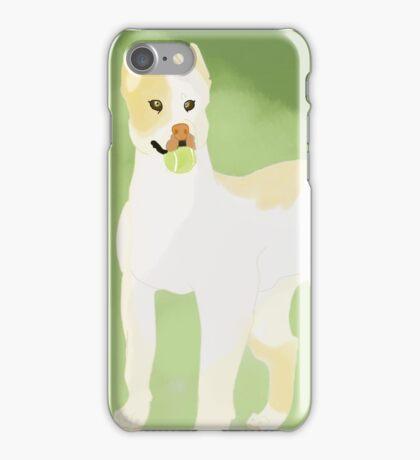 Pit Bull Fetch. iPhone Case/Skin