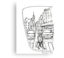 Taxi Window Canvas Print