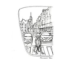 Taxi Window Photographic Print
