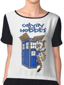 Calvin And Hobbes Fun Chiffon Top