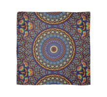 Kaleidoscope 4 abstract stained glass mandala pattern Scarf