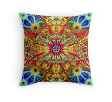 Cosmic Creatrip2 - Psychedelic trippy visuals Throw Pillow