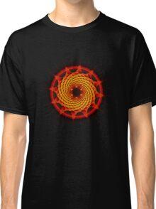 Merkaba Spiral Mandala Red   ( Fractal Geometry ) Classic T-Shirt