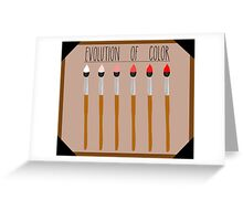 Evolution of Color Greeting Card