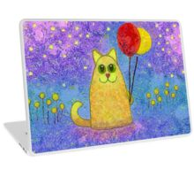 FIREFLIES AND HAPPY CAT Laptop Skin