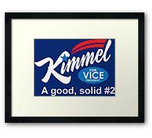 jimmy kimmel vice president Framed Print