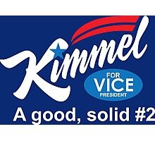 jimmy kimmel vice president Photographic Print