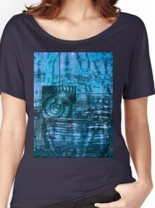 Evolution - Ammonite in Blue Women's Relaxed Fit T-Shirt