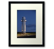 Night at the Lighthouse. Framed Print