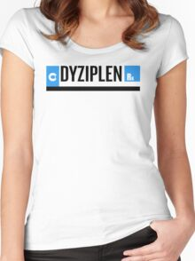 dyziplen unbreakable kimmy schmidt Women's Fitted Scoop T-Shirt