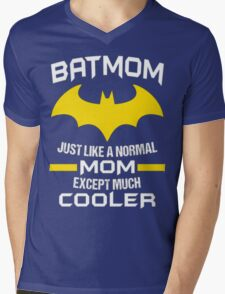 BATMOM JUST LIKE A NORMAL MOM EXCEPT MUCH COOLER Mens V-Neck T-Shirt