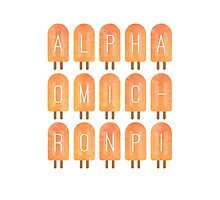 Alpha Omicron Pi Popsicles Photographic Print