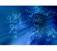Meditate in Blue Photographic Print