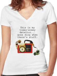 Doctor Who, This is My Timey-Wimey Detector... Women's Fitted V-Neck T-Shirt