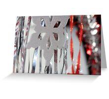 Tinsel and Snow Greeting Card